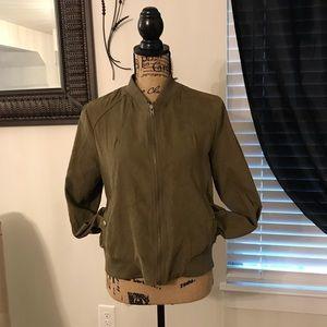 Juniors zip front jacket
